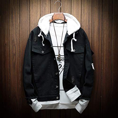 Imagen de zodof chaqueta hombre abrigo moda casual  encapuchado talla grande cómodo capa chaqueta running hooded jacket coat tops,negro alternativa