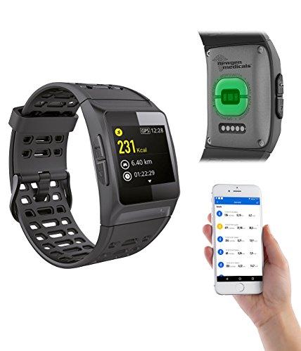 Newgen Medicals Smartwatch GPS: GPS-Sportuhr, Bluetooth, Fitness, Puls, Nachrichten, Farbdisplay, IP68 (Smartwatch GPS Puls)
