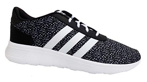 Adidas Lite Racer W, Damen Laufschuhe / Sneaker (EUR 43 1/3, schwarz / weiss) (Laufschuhe Damen Weite)