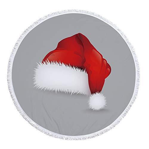 Wölfe Home Trikot (CYYCY Strandtuch, Yogamatte, rund, Baumwolle, Tischdecke Strandtuch, runde Yogamatte, Strandtuch gemalt Wolf Stil 7 460 g 150cm Handtuch)