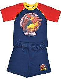 Boys Spider-Man Short Pyjamas Sizes 4 to 10 Years