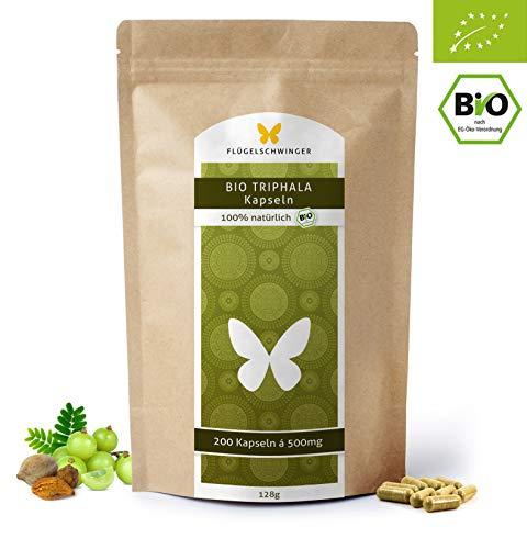 200 BIO-Triphala-Kapseln á 500mg, DE-ÖKO-012, hochdosierte Tabletten, zertifizierte Bio Qualität, vegan (200 Tabletten) ...