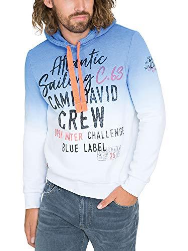 Camp David Herren Kapuzensweatshirt mit Dip-Dye-Effekt