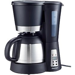 SUNTEC Cafetière filtre KAM-9004 [programmation (minuterie et heure), + système anti-gouttes, verseuse isotherme (1 litre), max. 800 watt]