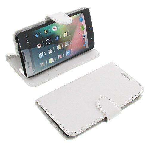 foto-kontor Tasche für ZTE Blade L3 Plus Book Style weiß Kreditkarte Schutz Hülle Buch