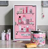 Derrière la porte - Mobiletto dei medicinali GM con chiavi 'Bobos de fille', colore: Rosa immagine