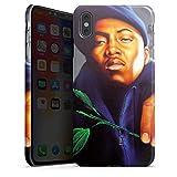 DeinDesign Apple iPhone XS Max Hülle Premium Case Cover NAS Rapper Illmatic