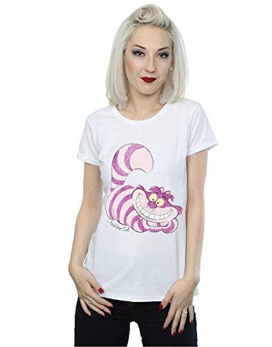 Disney Damen Alice In Wonderland Cheshire Cat T-Shirt Weiß
