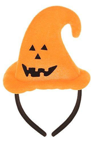 GEMVIE Halloween Damen Hexe Hut Flanell Haarreif Haarband Kostüm Zubehör Fasching Lustig