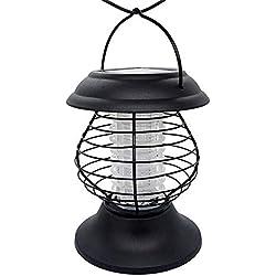 Faviye Lampe Moustique Solaire LED Etanche Portable pour Maison/Bureau/l'extérieur