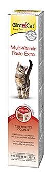 GimCat - Pâte multivitaminée Extra pour chat - Complément alimentaire riche en nutriments pour renforcer les défenses naturelles - Tube de 50 g