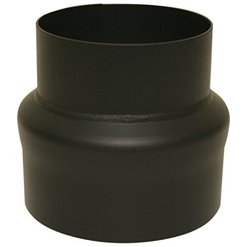 Erweiterung Ofenrohr 120 / 150 mm Rauchrohr Erweiterungsstück Schwarz 2mm