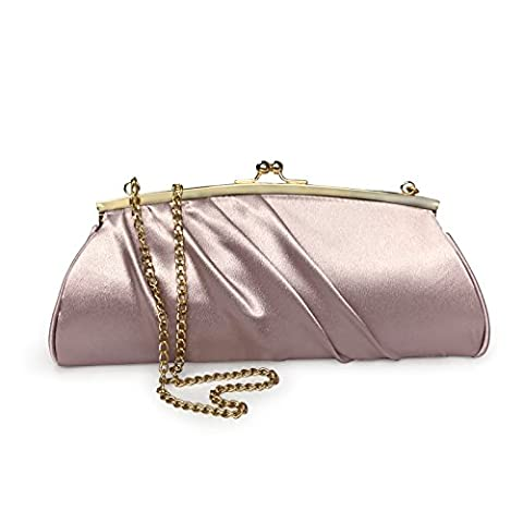 Becko Satin Purse with Kissing Lock Wallet and Purse Long