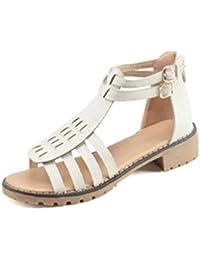 Roma bohemia sandalias abiertos zapatos de tacón abierto UE tamaño personalizado 34-39 , white , 38