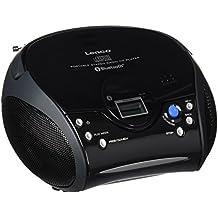 Lenco SCD-32 - Radio portátil con reproductor de CD ( tecnología Bluetooth, WiFi, antena telescópica, funcionamiento AC / DC) negro