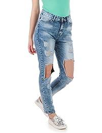 La Modeuse - Jeans destroy bleu