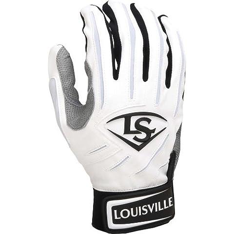 Louisville Slugger-Guanti da battitore BG serie 7, colore: bianco/bianco, taglia: M