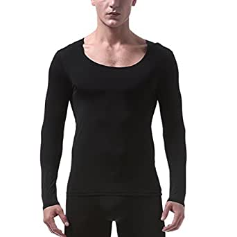 Zhhlinyuan men 39 s non trace undershirt ice silk lightweight for Lightweight breathable long sleeve shirts