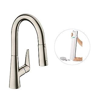 Hansgrohe 73880800 M41 Grifo de cocina con ducha extraíble y sBox, Acero