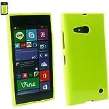 Emartbuy® Nokia Lumia 735 / Lumia 730 Dual Sim Shiny Gloss Gel Hülle Schutzhülle Case Cover Grün