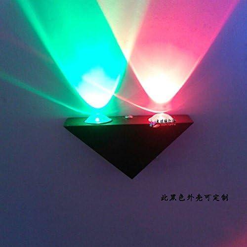 FXING LED Indoor Posto Letto Lampada da Parete 2 Triangolare 3 4W Triangolare 2 lampade in Alluminio ca0293