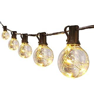 10m / 30ft 30 * G40 warmweiß umweltfreundliche LED Kupferlampen Draht Innen- und Außendekoration Beleuchtung für Terrasse, Garten, Party, Hochzeit, Weihnachten usw.