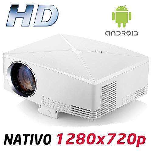 Proyector Full HD 1080P, Modelo HD430 (2019 Nuevo), Proyector Android Maxima luminosidad Portátil LED Cine en casa 1920x1080 HDMI USB VGA Bluetooth para PS4,Xbox,Switch, 720P Nativo