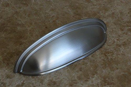 Sonoma Hardware-Kabinett Montana pull Abfalleimer Cup Griff gebürstet Satin Nickel/Edelstahl 7,6cm betweeen Schraublöcher Custom Küche Sonoma Pfanne