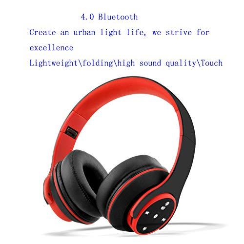 Preisvergleich Produktbild OY5PLUS One-Touch-Touch-Headset Multimedia Bluetooth 4.0 Kopfhörer Bass Noise Reduction Geringer Stromverbrauch Audio-Karten Geeignet für Sport Laufen Mobile Computer Music Wireless Headsets