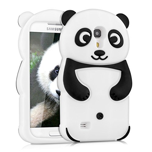 kwmobile ÉTUI EN SILICONE Design panda pour Samsung Galaxy S4 Mini Design stylé et protection optimale