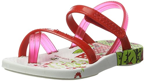 Ipanema Fashion V Sand Baby, Chaussures Marche Bébé Fille Mehrfarbig (white/red)
