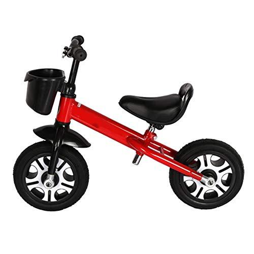 YJFENG-Laufrad Kinder Balance Bikes Titan Leeres Rad Höhenverstellbar Flexibler Betrieb Leicht Gewicht Tragbar,2 Bis 6 Jahre Alt,4 Farben (Color : Red, Size : 80x58cm)