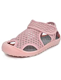 KVbaby Unisex Kid's Closed Toe Mesh Sandals Breathable Antislip Sneakers Trainers Casual Summer Sandals (Toddler/Little Kid)