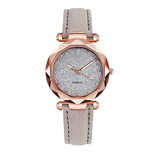 XZDCDJ Damenuhren Erwachsene Analog Quarz Uhr Fashion Armbanduhren Klassiche Uhren Damenmode koreanischen Strass Rose Gold Quarzuhr weiblichen Gürtel Uhr - Tasche Koreanischen