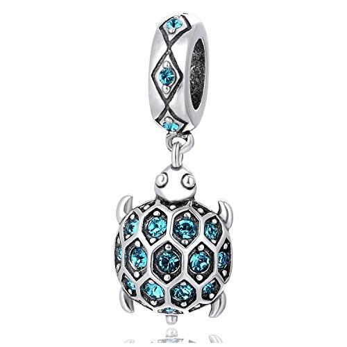 'GlobalWIN Sterling Silber 925Schildkröte Charm Bead Tier Anhänger zum Pandora, Biagi, Chamilia Armbänder