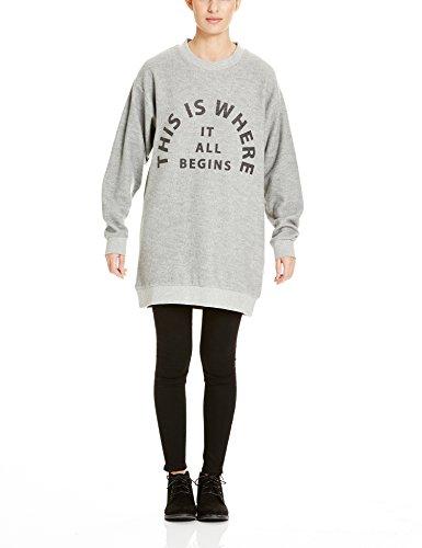 Bench Damen Pullover Arrangement, Grau (Mid Grey Marl GY001X), Small Preisvergleich