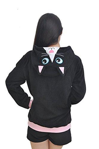 SAMGU Costume Homewear Cosplay Cappotto Hoody Animale Adulto Unisex Nero