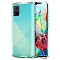 Microsonic Samsung Galaxy A71 Kılıf Transparent Soft Beyaz