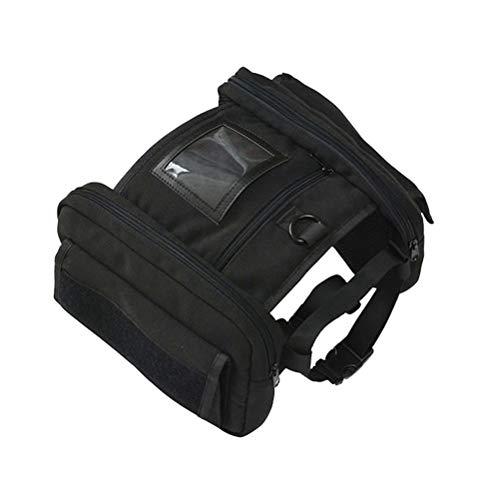 POPETPOP Satteltasche Rucksack für Kleine mittlere große Hunde Verstellbare Harness Tripper Satteltasche Reisen Wandern Camping