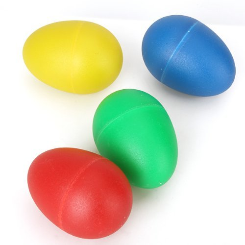 Owfeel Pack of 4 Percussion Musical Egg Maracas Shakers Rhythm