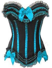Dissa Eleant bowknot Décor corset bustier,SkyBlue