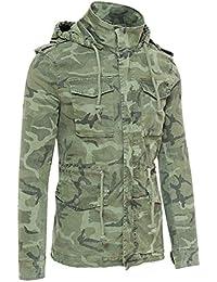 AK collezioni Giubbotto Parka Uomo Mimetico Militare Casual Giacca Trench  Camouflage con Cappuccio 70f7a79a73c