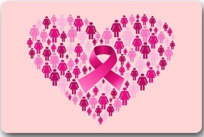 Paillasson intérieur/extérieur Lavable - Ruban Rose de Sensibilisation au Cancer du Sein dans Le Tapis de Porte personnalisé Noir