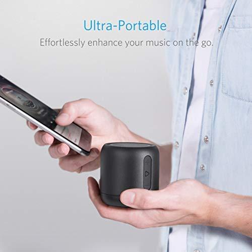 Anker SoundCore Mini Super Mobiler Bluetooth Lautsprecher Speaker mit 15 Stunden Spielzeit, 20 Meter Bluetooth Reichweite, FM Radio und Starken Bass (Schwarz) - 3