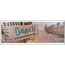 """Playa Playa Vista Foto Lienzo 30x 90cm"