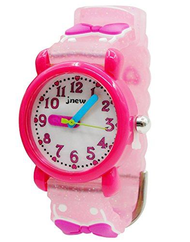 JNEW Mädchen Armbanduhr Jungen Uhren Kleinkind Wasserdicht Lernuhr 3D Silikon Armband Cute Cartoon Studentenuhren für 3-10 Jahre Alt Kinder