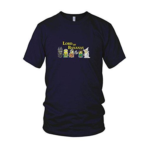 Lord of Bananas - Herren T-Shirt, Größe: XXL, dunkelblau