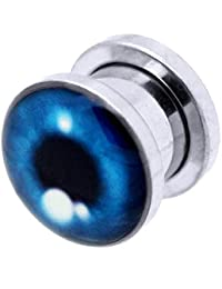 tumundo 1 Pieza o Kit Túnel Dilataciones Acero Inox Pendientes Piercing Expansor Stretcher Azul Ojo Halloween