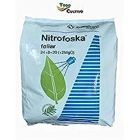 Nitrofoska Abono foliar 24-08-20. 5 Kilos. Primavera y brotacion. Fertilizante nitrogenado.Abono foliar para olivos