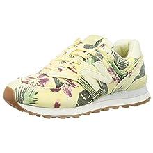 New Balance Women's 574 Sneaker, White, 8.5 UK